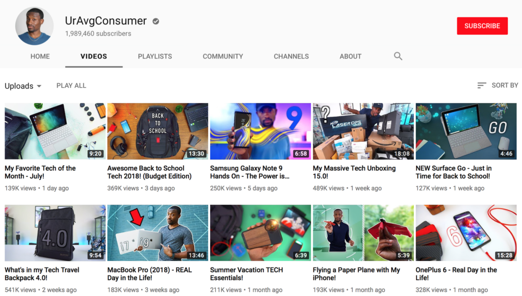 UrAvgConsumer's YouTube channel. Click here to check out more of this tech influencer's videos.