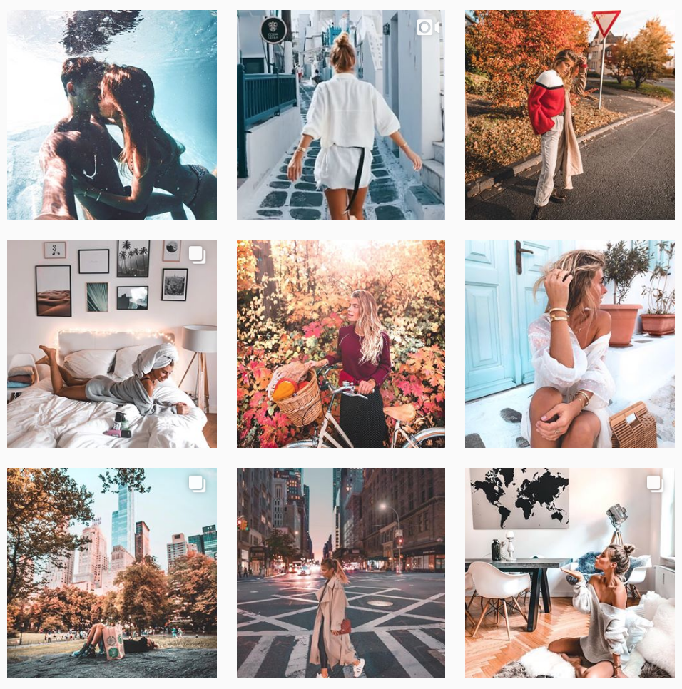 Debi Flügge posts her pictures strategically in order to create a balance for her Instagram aesthetic