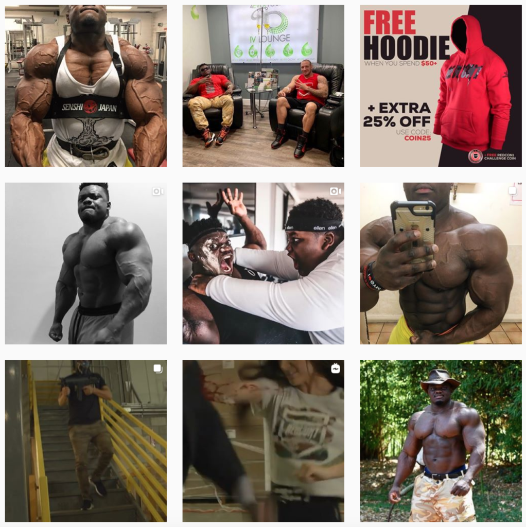 Male fitness influencer Blessing Awodibu