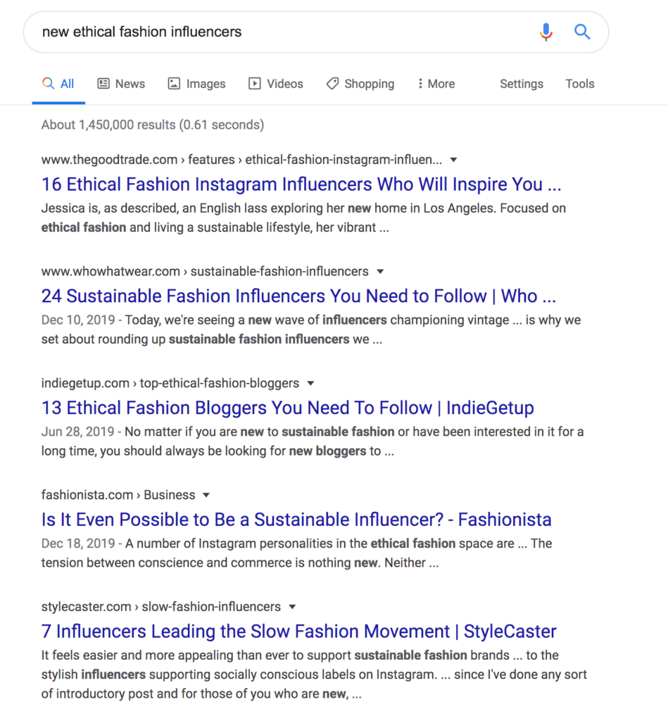 How to find influencers in your industry by using Google search keywords