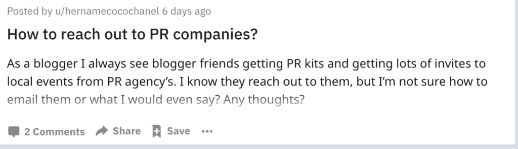 influencer marketing reddit threads used to ask and answer industry questions