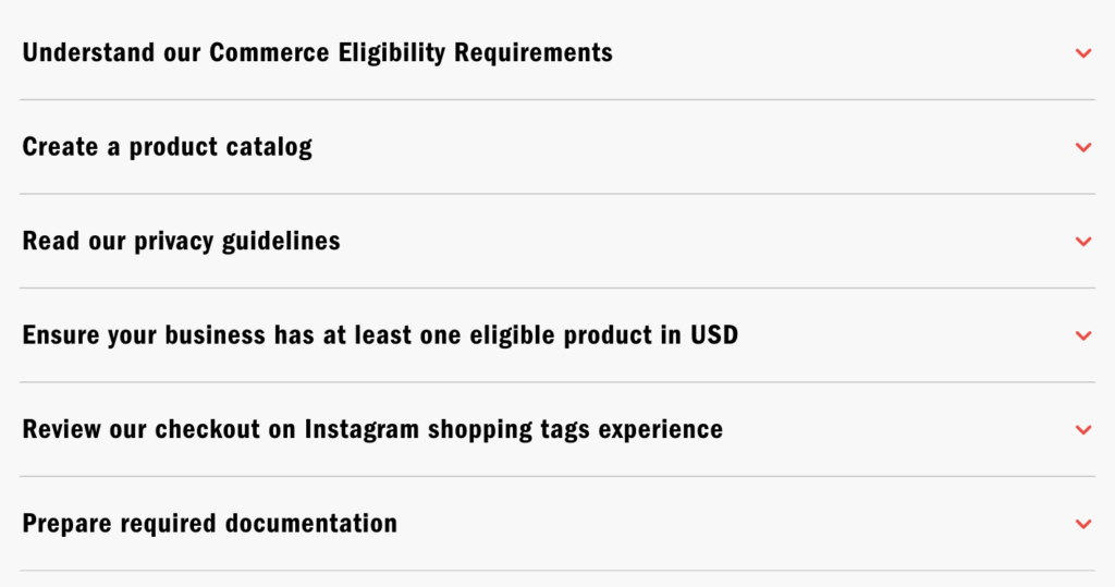Commerce eligibility instagram checkout